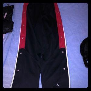 EUC Jordan Tear away Pants With 2 pockets!